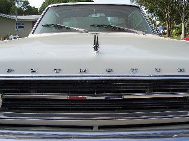 1967 Plymouth Satellite Close-Up View Of Front End