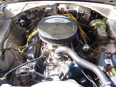 1967 Plymouth Satellite View of the Engine