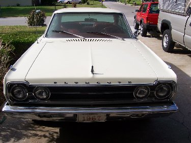 1967 Plymouth Satellite Front Top View