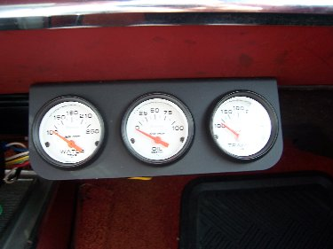 1967 Plymouth Satellite View of Gauge Pack