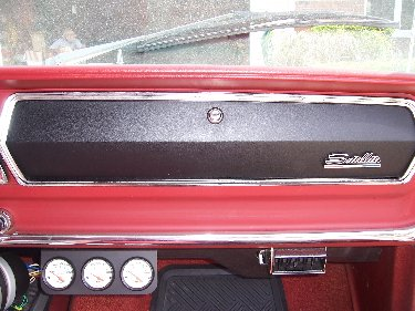 1967 Plymouth Satellite View of Glove Compartment Door and Dash Board