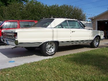 1967 Plymouth Satellite View Of Pasenger Side Back