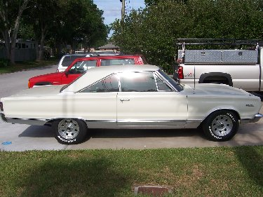 1967 Plymouth Satellite Passenger Side View Of Car