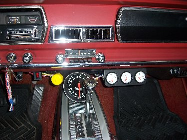 1967 Plymouth Satellite View of Console