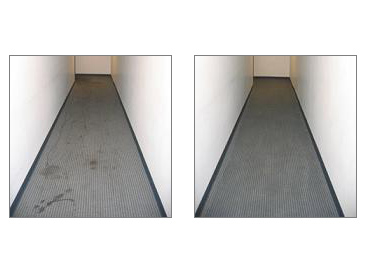 Hallway Before And After A Deep Steam Cleaning
