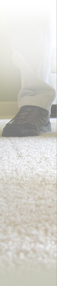 Customer Standing on A Clean Carpet